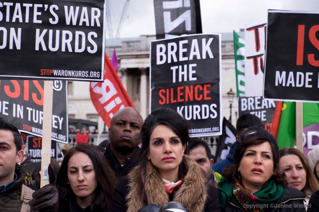 Kurds ask UK government to Break their Silence and Stop Supporting Turkish State War on Kurds & end mass murder of the Kurdish people in Turkey. March & Rally central London