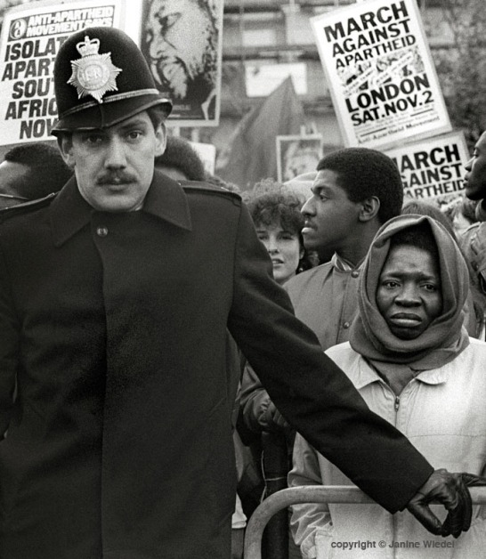 Anti-Apartheid and free Nelson Mandela march & rally in London in the 1985